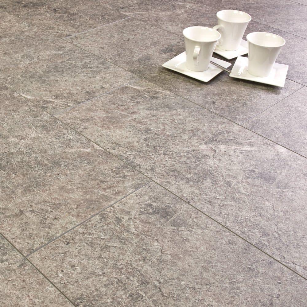 Waterproof tile effect laminate flooring