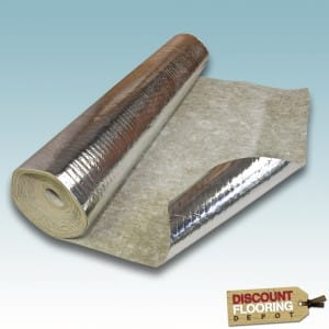 Timberfoil damp proof membrane underlay for laminate flooring