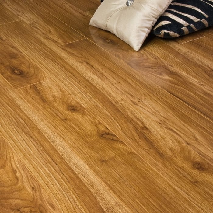 Premier Select - 10mm High Gloss Laminate Flooring - Auckland Walnut - 1.882m2