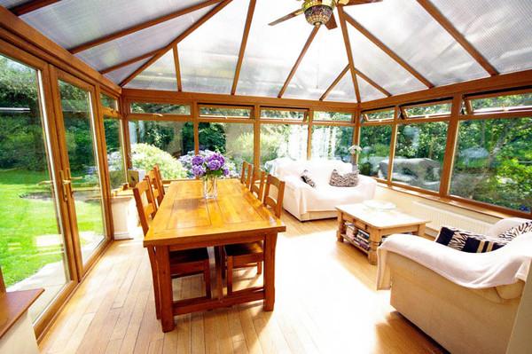 Conservatory flooring sunshine