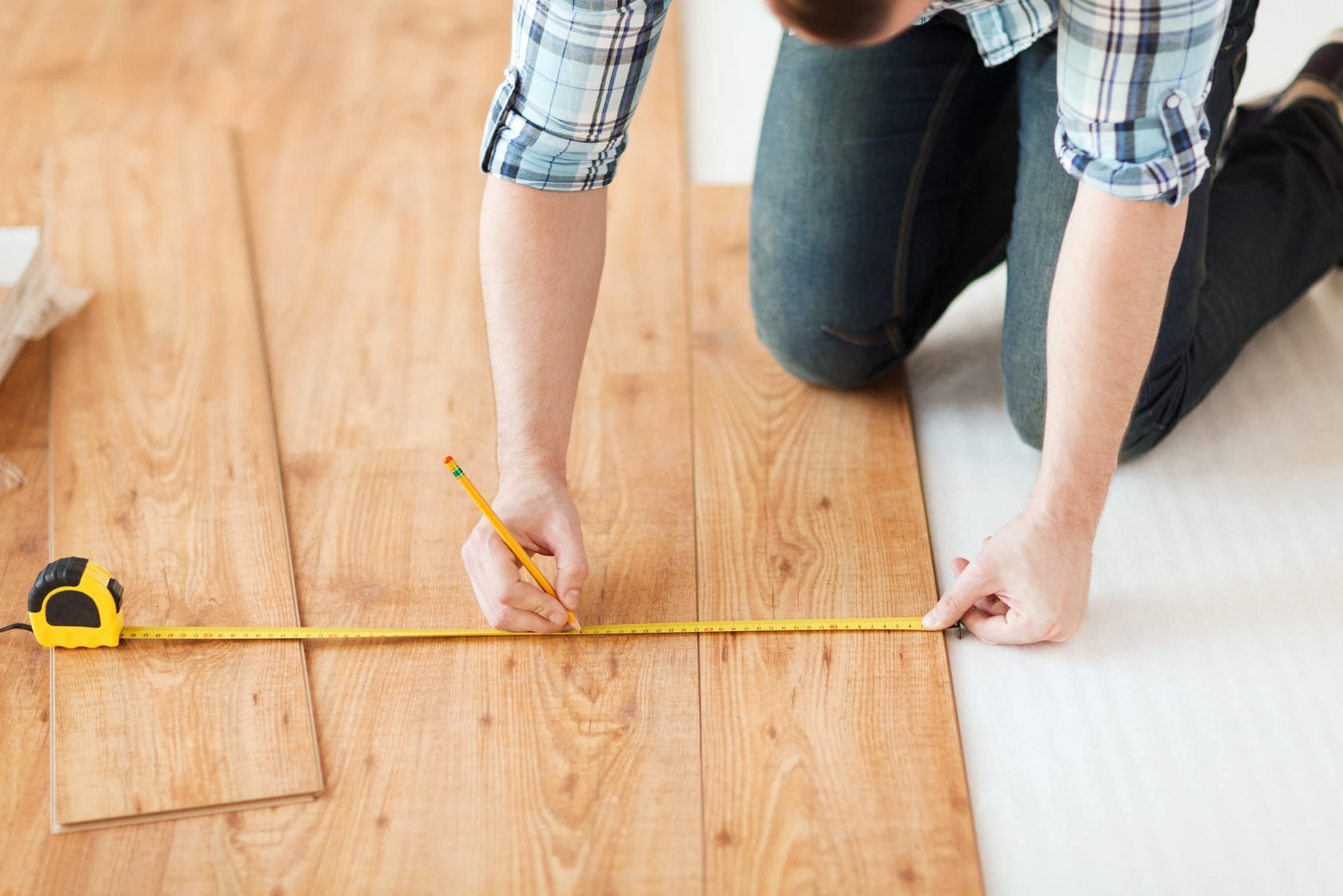 Cutting Laminate Flooring Measuring Cut