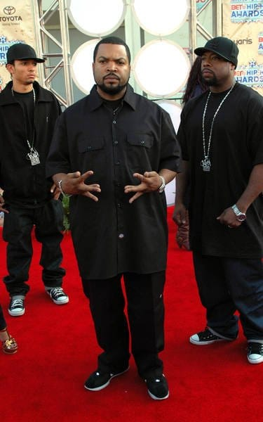 Ice cube on carpet