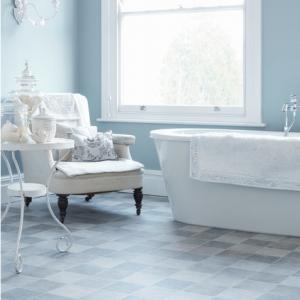 Duck blue vinyl flooring