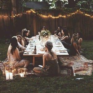 Summer Garden Party dining