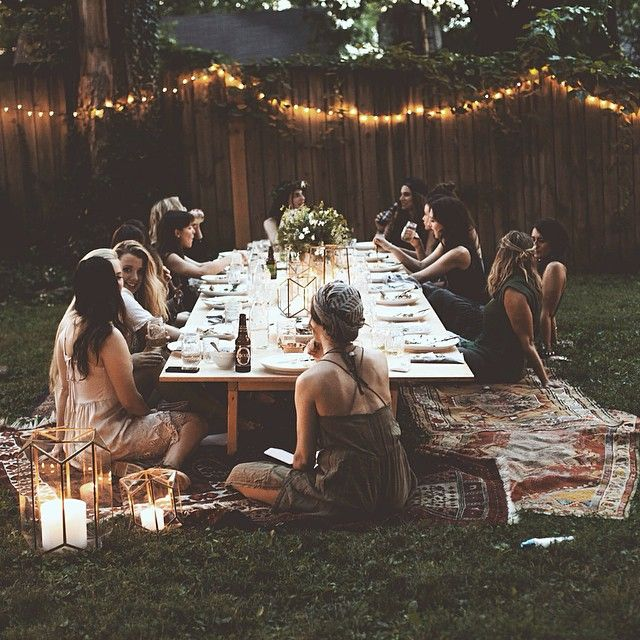 College Party Outdoor