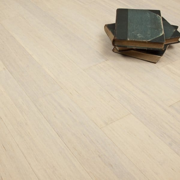 Bamboo Flooring White Lacquered