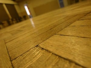 Solid wood floors  are creaking