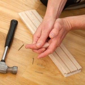 Hurt with hammer when laying wooden floor - What other safety tips are there?