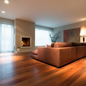 Living room with engineered flooring