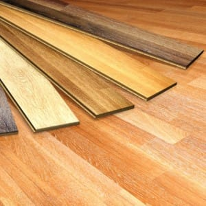 An image of a variety of wooden flooring