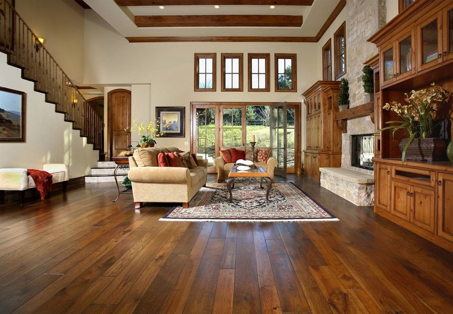 3 ways to style your room with an oak wooden floor for Living room designs with oak furniture