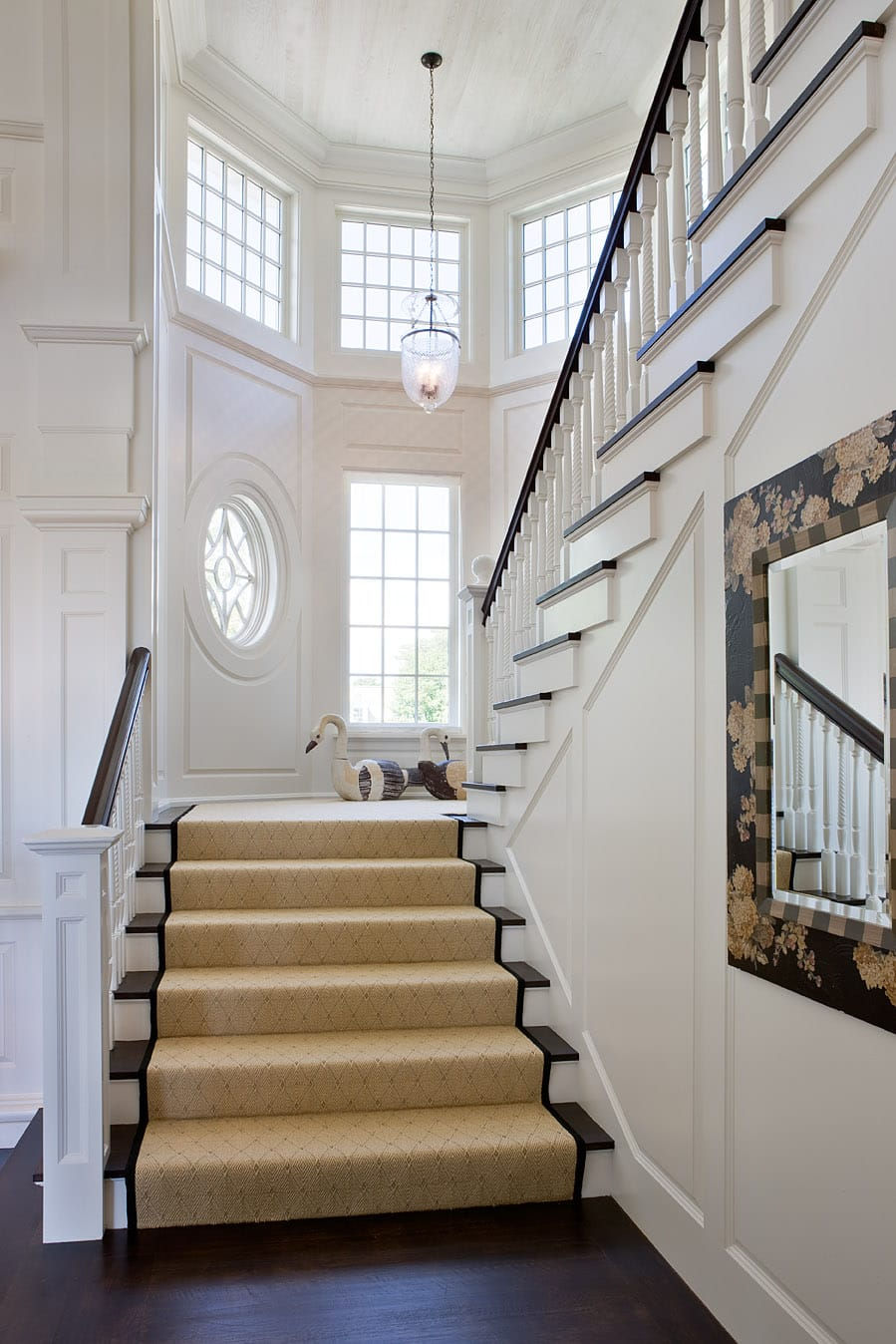 How to make your staircase stand out discount flooring for Pre built stairs interior