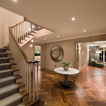 No entry hall? Create the illusion of one with flooring