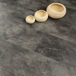 Hydro Regenerate - 5mm Tile Effect Laminate Flooring - Black Slate