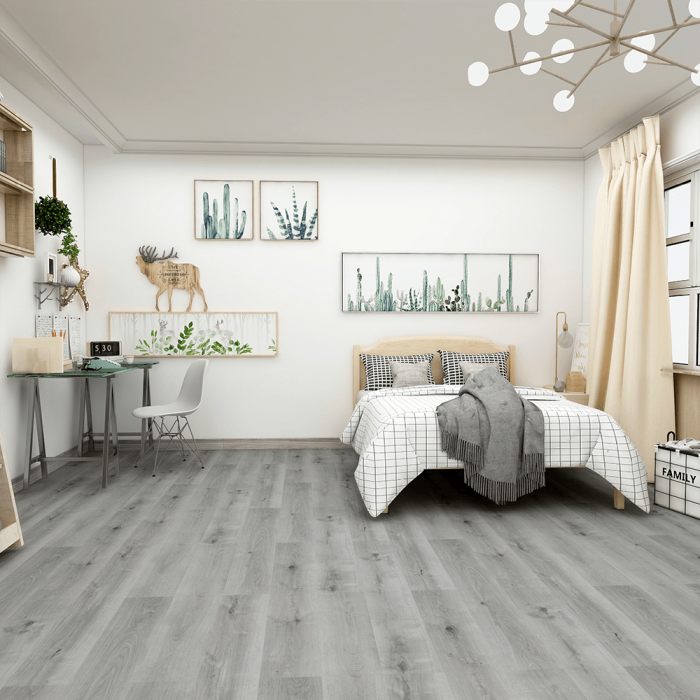 Quick Stone Wood Effect - 5mm LVT Flooring - Grey Steel Oak