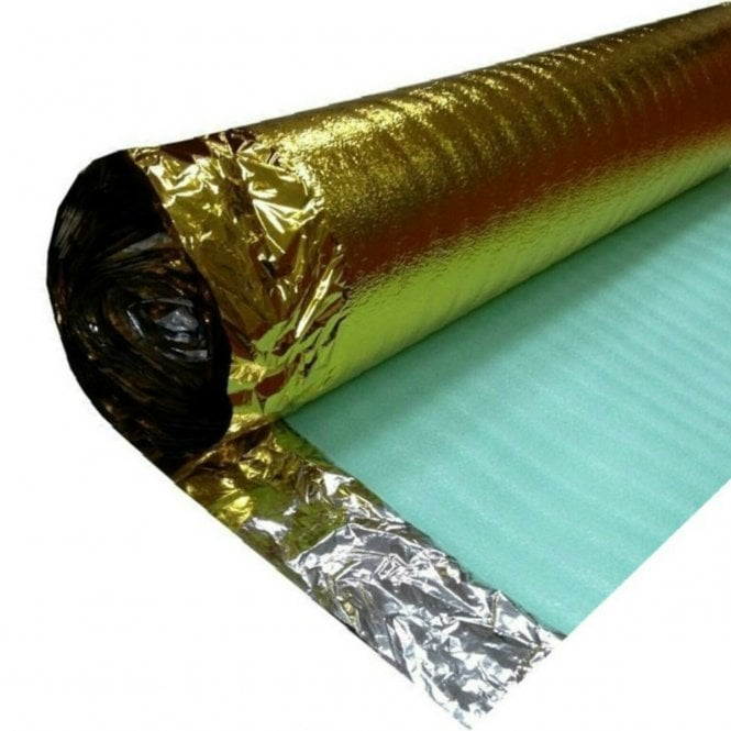 4 Pack Gold Foam Plus Underlay 3mm (40m2 Coverage)