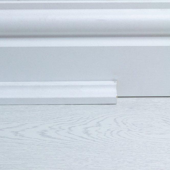 5 Pack White Beading - 12 metres