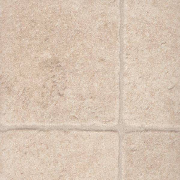 Affinity 505 cream tile cushioned vinyl flooring for Cushioned vinyl flooring