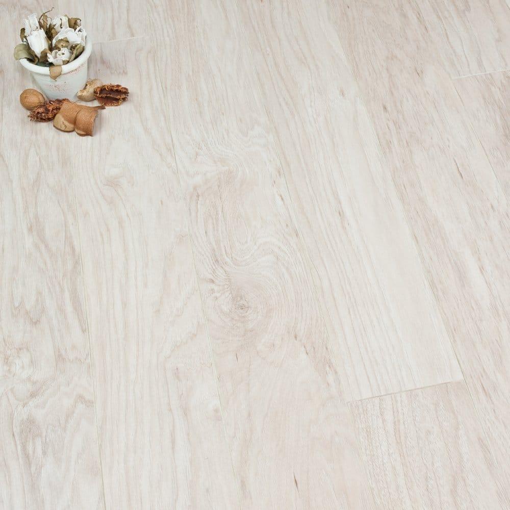 Ascent White Hickory 8mm Laminate Flooring