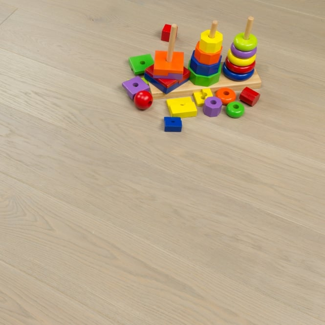 Aspire Click Engineered Oak Flooring 14/2.5mm x 180mm Marzipan Brushed Matt Lacquered 2.26m2