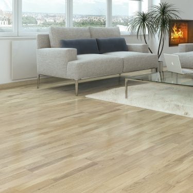 Autograph Click - 10mm x 207mm Engineered Wood Flooring - 3 Strip Chalk Oak