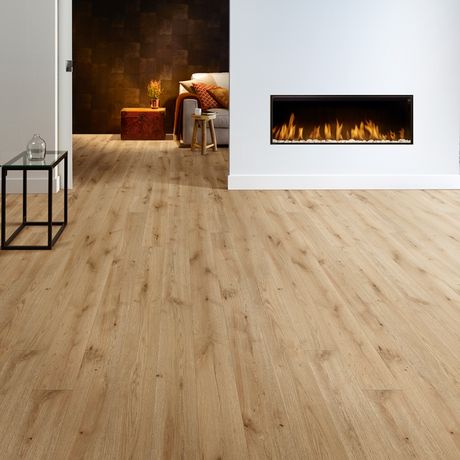 Grande Narrow - 9mm Laminate Flooring - Bellefosse Natural Oak