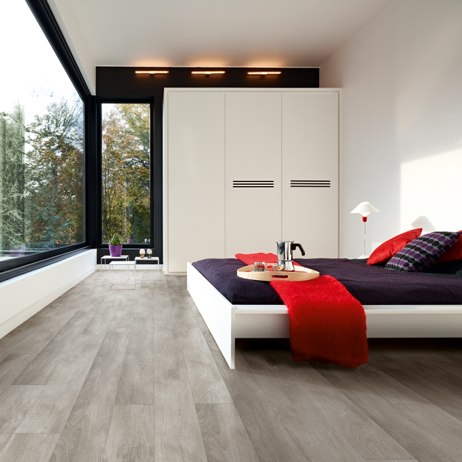 Stretto - 8mm Laminate Flooring - Grey Sherman Oak