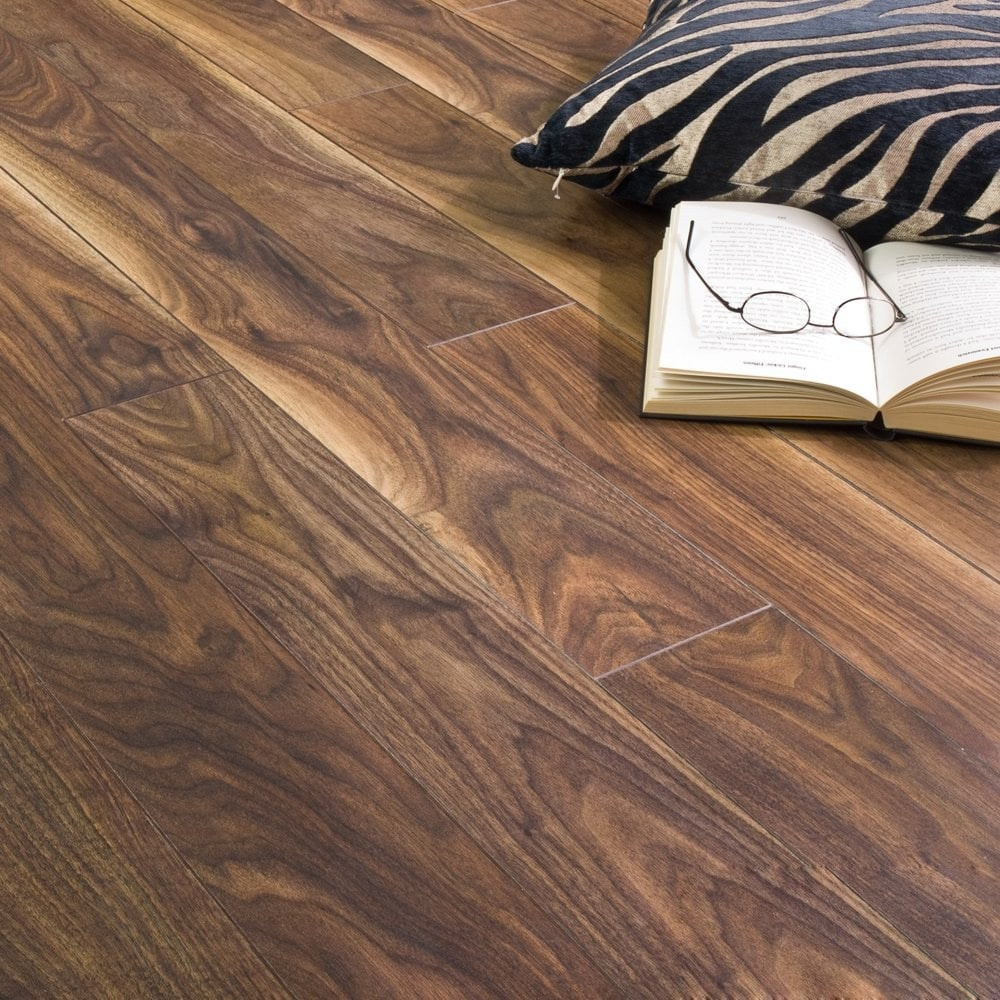 Balterio Stretto Black Walnut 8mm Laminate Flooring V Groove Ac4 2 03m2