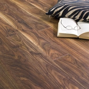 Balterio Stretto Black Walnut 8mm Laminate Flooring V-Groove AC4 2.03m2