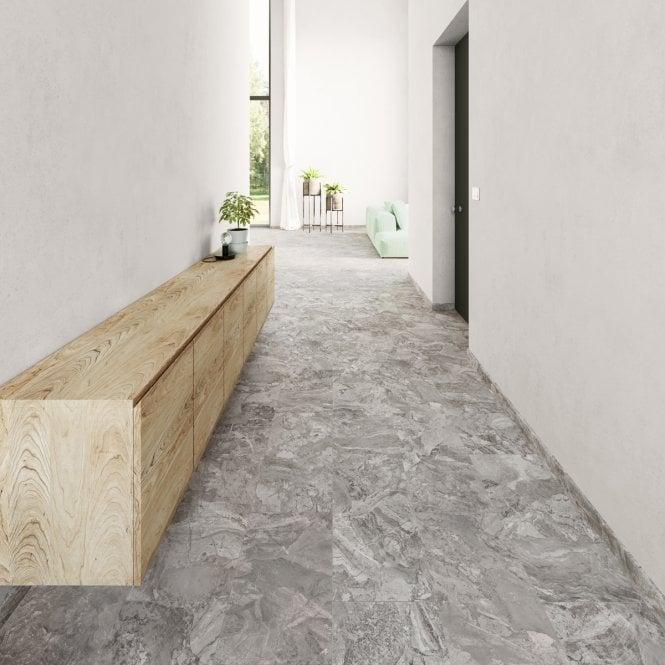 Viktor - Premium LVT Tile Effect - Grey Stone