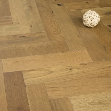 Chelsea Engineered Herringbone Parquet Flooring Dark Smoked Oak 14/3 x 90mm Matt Lacquered 1.215m2