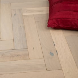 Chelsea Engineered Herringbone Parquet Flooring White Wash Oak 14/3 x 90mm Matt Lacquered 1.215m2