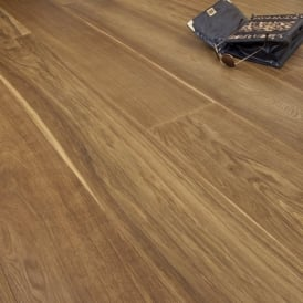 **Clearance** Diamond Series Engineered Flooring 14/3mm x 240mm Oak Smoked Brushed and Oiled 2.736m2