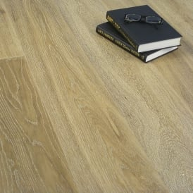 **Clearance** Platinum Series Engineered Flooring Clic 14/3mm x 189mm Oak Gracious Silver 1.81m2