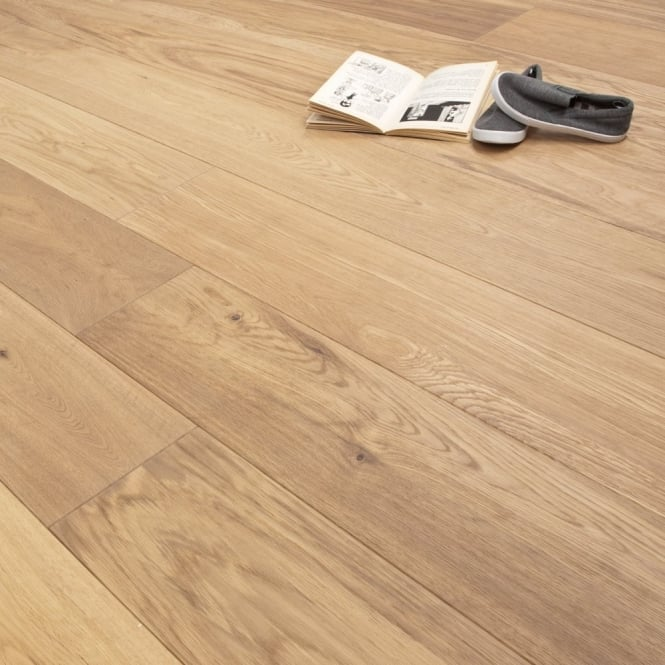 **Clearance** Platinum Series XL Engineered Flooring Clic 14/3mm x 189mm Oak Luxury Silver 2.81m2