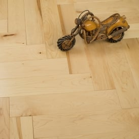 **Clearance** Princeton Solid Wood Herringbone Parquet Flooring Maple 18mm x 90mm Lacquered 4.05m2