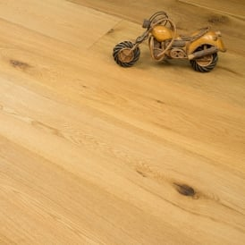 **Clearance** Redwood X-wide Engineered Flooring 20/6mm x 240mm Oak Natural Brushed and Oiled 1.824m2