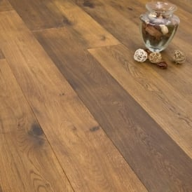 **Clearance** Titanium Series Engineered Flooring 15/4 x 189mm Oak Smoked & Oiled 2.81m2