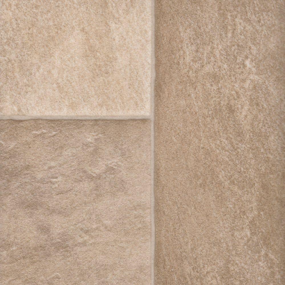 Columbus prescott 616 tile cushioned vinyl flooring for Cushioned linoleum flooring