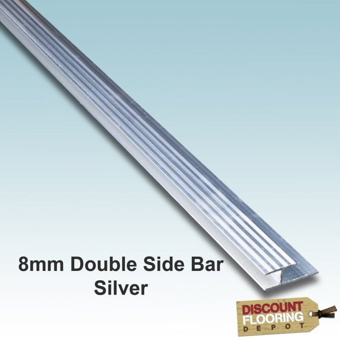 Double Edge Trim Silver 8mm 0.9m
