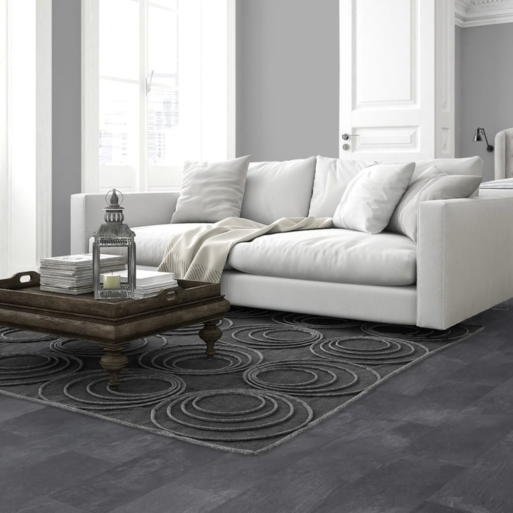 Elite Stone 8mm Tile Effect Laminate Flooing Dark Slate 2047