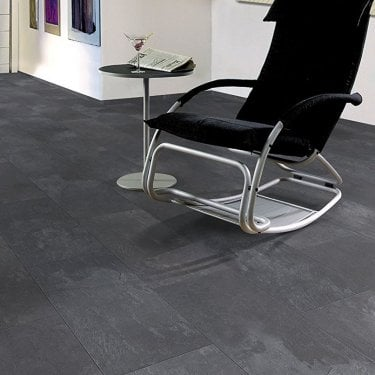 Elite Stone - 8mm Tile Effect Laminate Flooing - Dark Slate