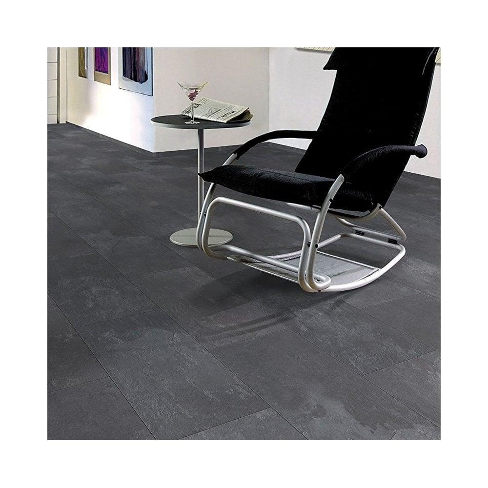 8mm Tile Effect Laminate Flooring Dark, Black Slate Tile Effect Laminate Flooring