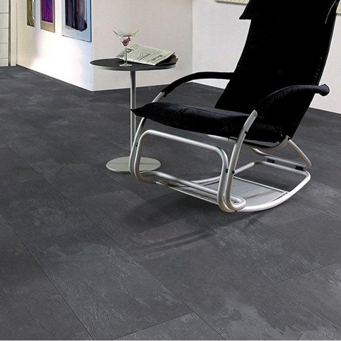 Elite Stone - 8mm Tile Effect Laminate Flooring - Dark Slate