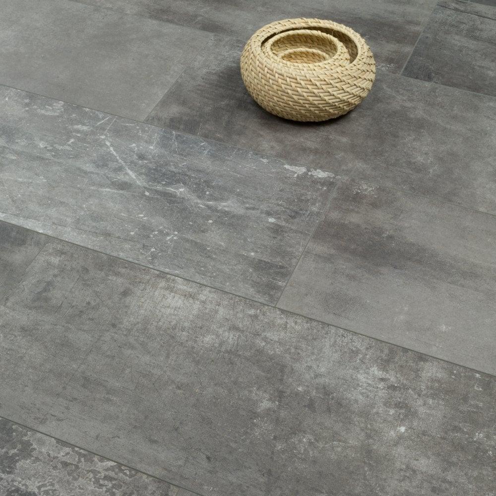 Elite Stone 8mm Tile Effect Laminate Flooring Graphite