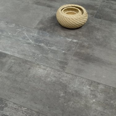 Elite Stone - 8mm Tile Effect Laminate Flooring - Graphite Screed