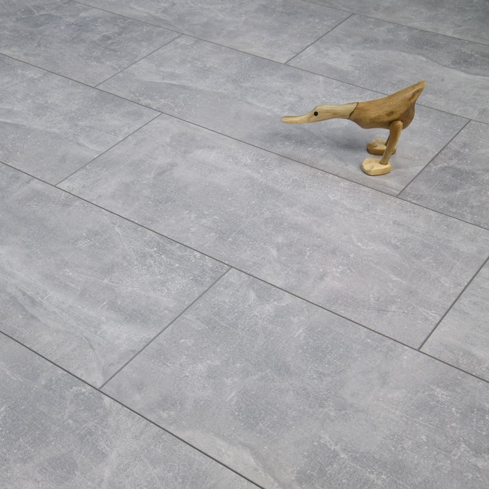 Elite Stone 8mm Tile Effect Laminate Flooring Light Screed