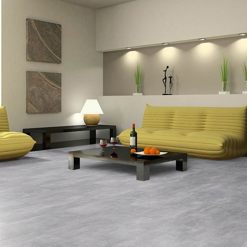 Elite Stone 8mm Tile Effect Laminate Flooring Light Screed