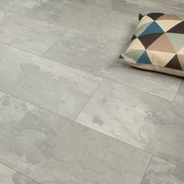 Elite Stone - 8mm Tile Effect Laminate Flooring - Venetian Grey -