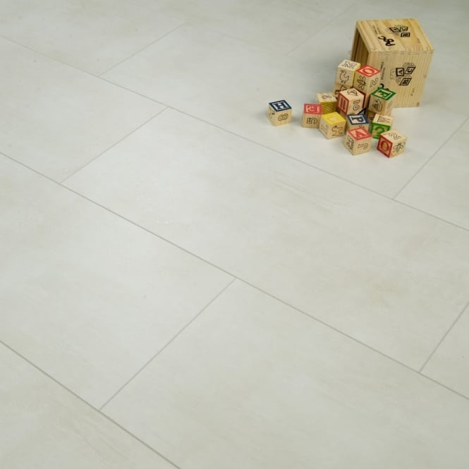 Elite Stone 8mm Tile Effect Laminate Flooring White Marble